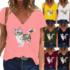Tops & Tees, Plus Size, Women Blouse, short sleeves