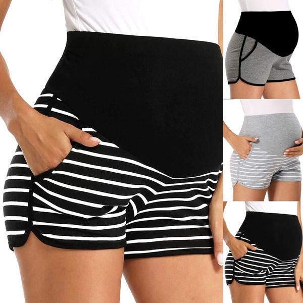 Plus Size, stripesshort, pants, yogashort