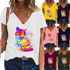 Summer, Plus Size, Shorts, short sleeves