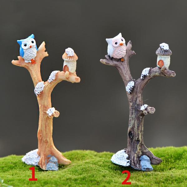 Bonsai, Owl, Decor, Toy