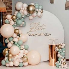 decoration, balloongarland, greenballoonset, Garland
