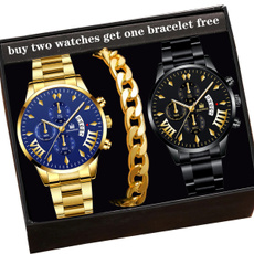 Fashion, business watch, Stainless Steel, Watch