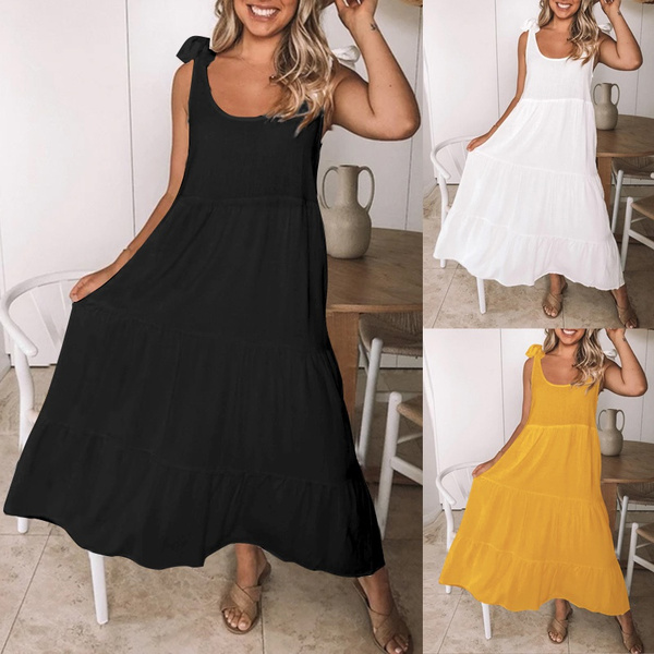 Summer, Plus Size, vest dress, long dress