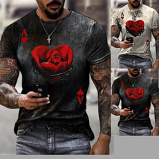 men clothes, Summer, Printed T Shirts, Necks