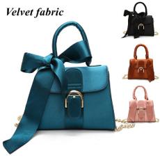 women bags, Shoulder Bags, velvet, Casual bag