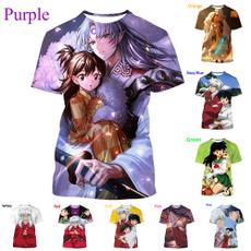 Summer, Fashion, inuyasha, 3dprintedtshirt