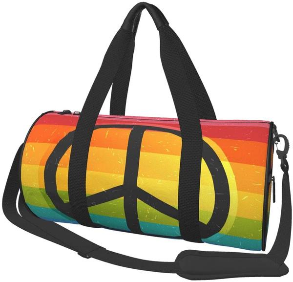 rainbow, black backpack, casualbackpack, School Backpack