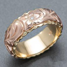 Wedding, Flowers, wedding ring, gold