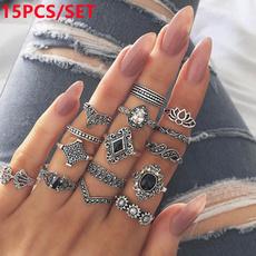 bohoring, Jewelry, retro ring, ringset