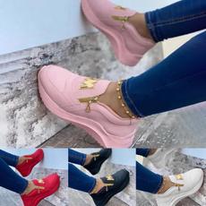 Sneakers, Platform Shoes, lazyshoe, round toe
