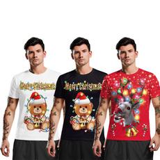 men shirt, Round neck, Fashion, Christmas