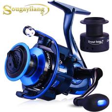 spinningreel, Aluminum, lights, fishingspinningreel