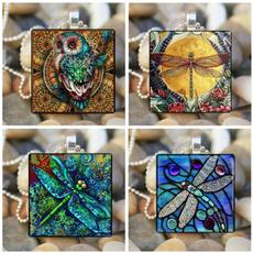 Blues, dragon fly, Jewelry, Owl