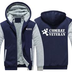 Casual Jackets, Fashion, Combat, Fleece Hoodie