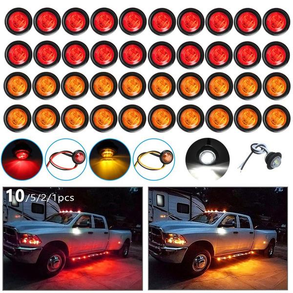 amber, trucksidelamp, led, Bullet