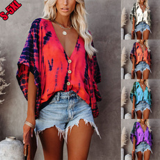 shirtsforwomen, Summer, Bat, Plus Size