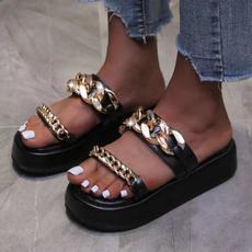 Summer, romanslipper, Fashion, Chain