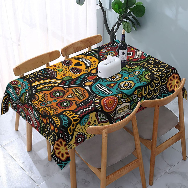 Kitchen & Dining, skull, picnictablecloth, roundtablecloth