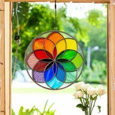 windowdecor, glasswindowhanging, Flowers, Home Decor