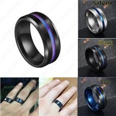 Couple Rings, Blues, 8MM, wedding ring