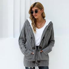 Gray, cardigan, fur, newinsweater