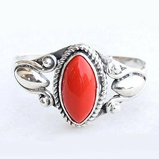 Sterling, antiquering, DIAMOND, 925 silver rings