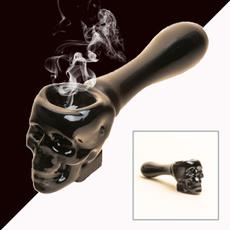 Smoking, skull, handpipe, Halloween