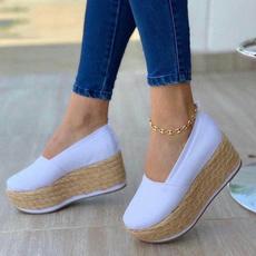 wedge, Fashion, Platform Shoes, roundtoeshoe