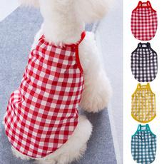 Summer, Vest, dogsummerclothe, plaidclothe