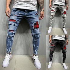 men's jeans, slim, pants, Denim