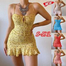 Mini, Plus Size, suspenderdre, women dresses