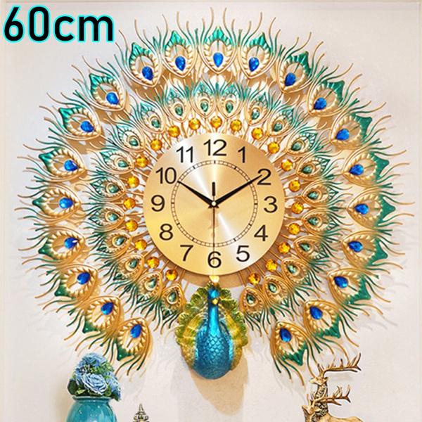 peacock, Battery, 3dwallclock, Clock
