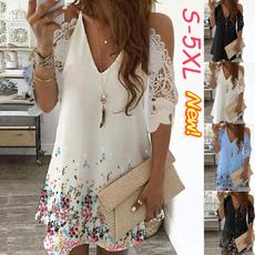 Summer, dressesforwomen, Lace, Dress