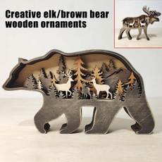 elk, Decor, Gifts, woodencraft