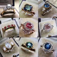 Fashion, wedding ring, gold, Romantic