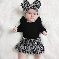 leopardskirt, babygirloutfit, Sleeve, tutuskirt