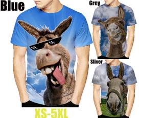 Summer, Donkey, shortsleevestshirt, 3dmentshirt