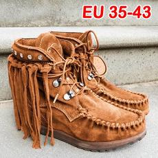 Shoes, Tassels, suedeshoeswomen, suedeshoe