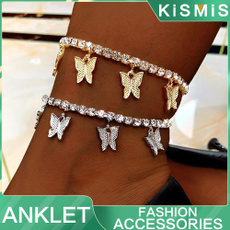 butterfly, butterflybracelet, footanklet, Chain
