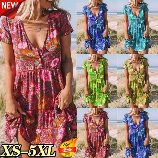Plus Size, Dress, V-neck, Mini dress