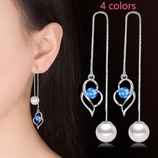 Holiday, stainless steel earrings, Jewelry, Pearl Earrings