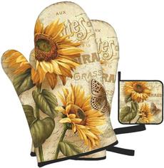 Polyester, hotglovescooking, Sunflowers, ovenmitt
