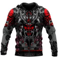 Fashion, tattoo, Harajuku, zipper hoodie