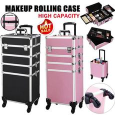 3in1cosmeticorganizer, Beauty Makeup, Jewelry, 4in1aluminumcosmeticmakeupcase