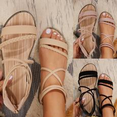 Summer, Decor, Sandals, summerbeachshoeswithbackzipperdesign