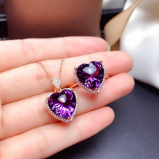 Heart, heartshapedpendant, Jewelry, amethystpendant