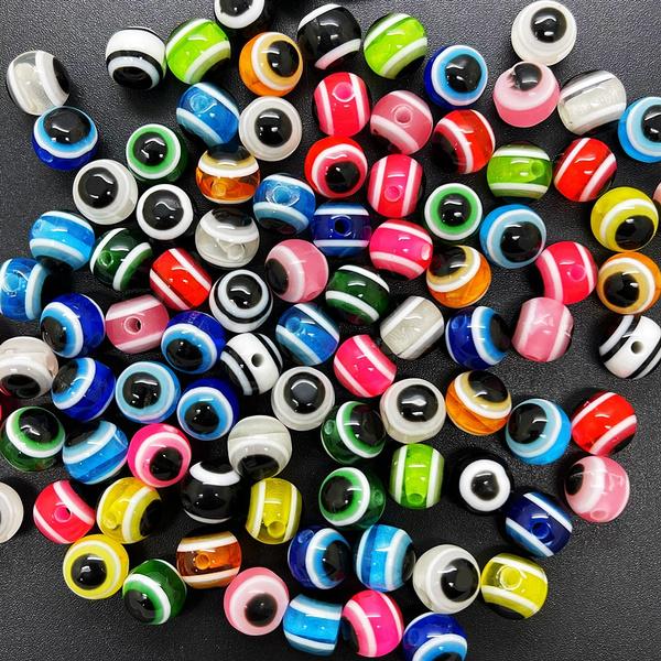 beadsforjewelrymaking, 8MM, evileyebead, eye