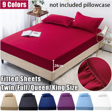 King, mattress, Elastic, Fitted