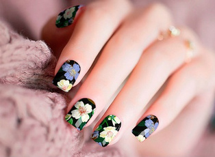Real, Beauty, Stickers, Nails