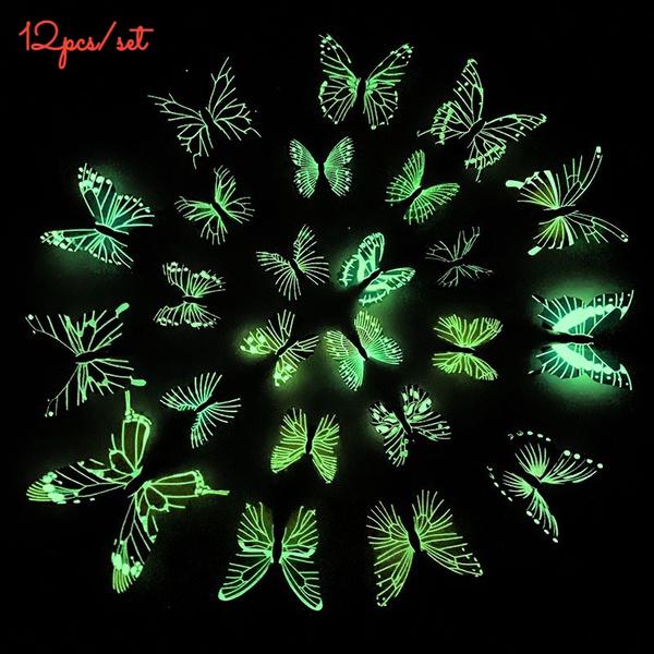 butterfly, Dark, Decor, glowingbutterflydecal